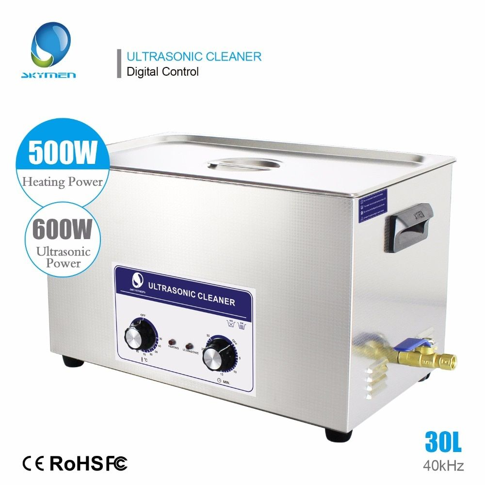 SKYMEN Ultrasonic Cleaner 30L Industrial Stainless Steel Auto Engine Parts Heated with Time Control SUS