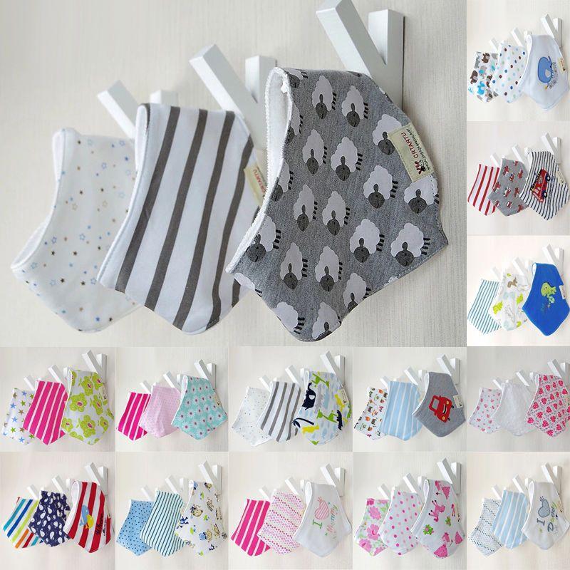 3pcs/set Baby Bibs Cotton Bandana Bibs Infant Babador Saliva Bavoir Towel baberos bebes Babadores For Newborn Baby Girls Boys