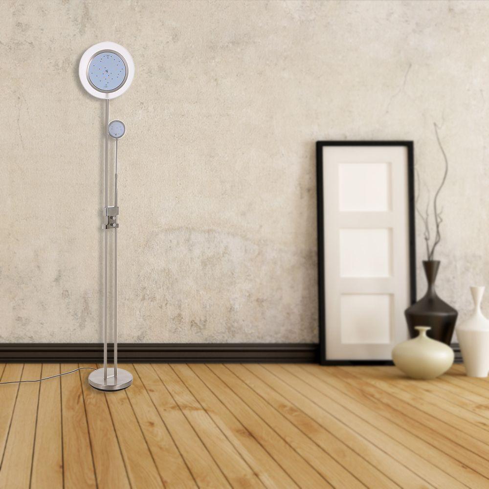 Tomshine 71-Zoll 15 watt LED Boden Lampe Eisen 1200LM Stufenlos Dimmbar Doppel Licht für Home Dekoration Wohnzimmer schlafzimmer College