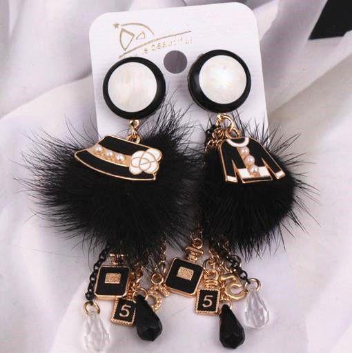 EH387 gland longue marque de luxe charme nouveau 2017 bijoux Pendientes Mujer Brincos Boucles D'oreilles Femme Boucles D'oreilles pour les femmes