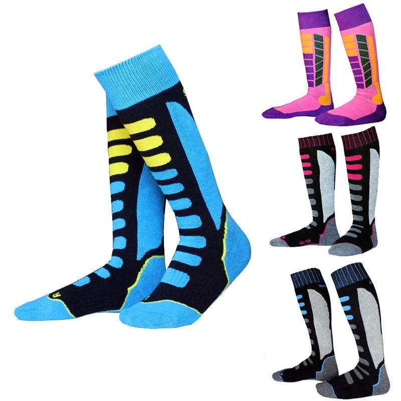 Winter Kids Youth Thermal Ski Socks Thicken Cotton Sport Snowboarding Cycling Boys Girls Skiing Hiking Socks Leg Warm Breathable