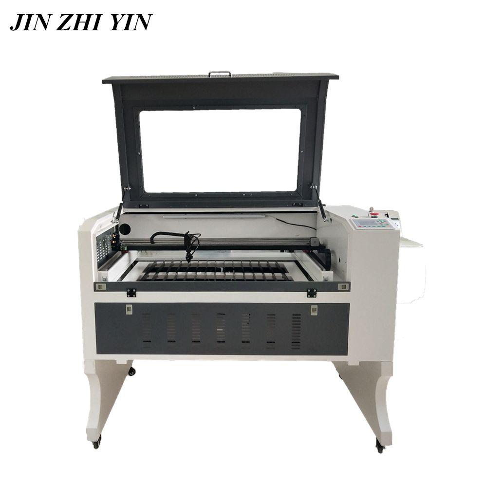 6090 Laser gravur schneiden maschine 80 w 100 w holz acryl co2 laser engraver cutter ruida 6442 s vorne nach hinten design