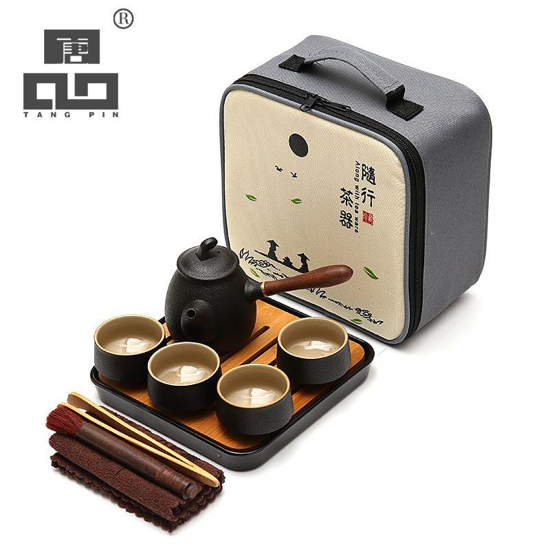 TANGPIN japanese ceramic teapot kettle teacup ceramic tea sets kung fu tea set with tray
