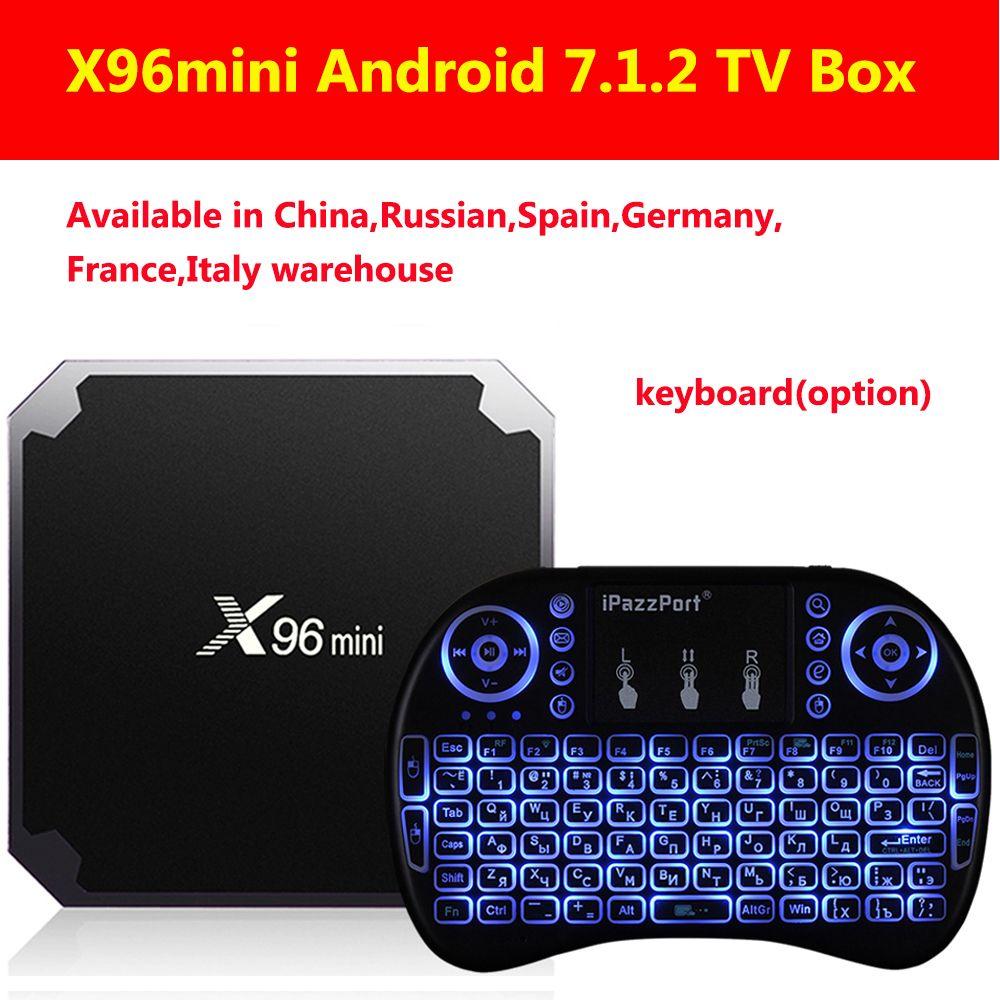 X96mini Android 7.1.2 TV Box Amlogic S905W 2GB RAM+16GB ROM/1GB+8GB Quad Core WIFI HDMI 4K*2K HD Smart Set Top BOX Media Player