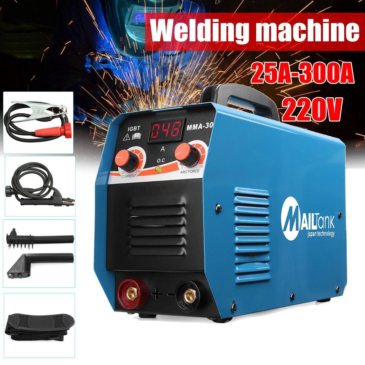 MMA-300G Mini Welders DC Welding Machine 220V 25A-300A Semi-Automatic Inverter LCD Soldering Tool
