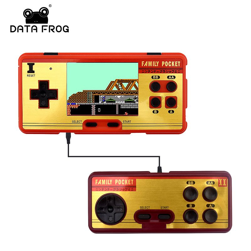 Data Frog Portable Handheld Game Players <font><b>Built</b></font> in 638 Classic Games Console 8 Bit Retro Video Game For Gift Support AV Out Put