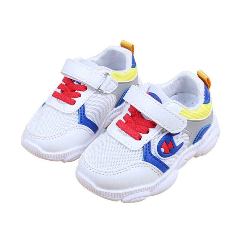 Enfants chaussures décontractées pour bébé garçons filles respirant couleur mixte anti-dérapant chaussures baskets enfant en bas âge semelle souple 1-5Y