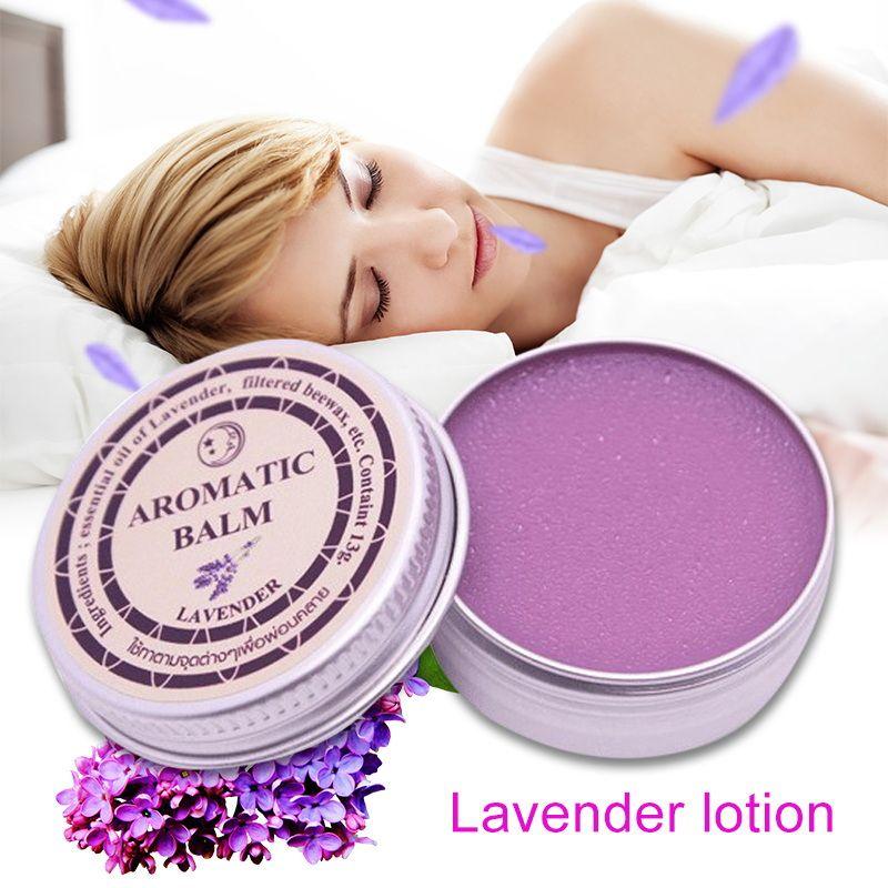 13g Effektive Lavendel Aromatischen Balsam Helfen Schlaf Beruhigende Creme Ätherisches Öl Schlaflosigkeit Behandlung Entlasten Stress Angst Creme