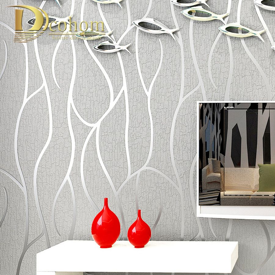High Quality Modern Geometry Striped Wallpaper For Walls 3D Embossed Living room Sofa TV Background Home Wall Paper Rolls