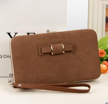 2018 Franbrani tui Wholesale new Korean version ladies' purse long phone bag, bow tie lunch box, women's wallet K