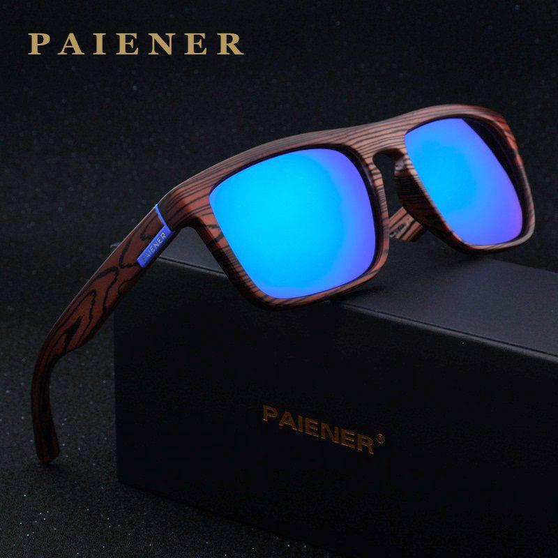 2017 rétro Imitation bambou bois lunettes de soleil polarisées femmes hommes marque Designer lunettes de soleil Sport lunettes de soleil oculos de sol