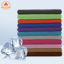 Drop shipping Sport Ice Towel 9 Colors 90*30cm Utility Enduring Instant Cooling Face Towel Heat Relief Reusable Chill Cool Towel
