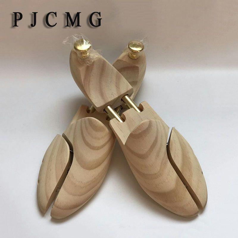 Double Tube de Haute qualité En Bois Massif Printemps Nouvelle-Zélande Pin Bois Réglable Chaussures Shaper Hommes de Chaussures Arbre