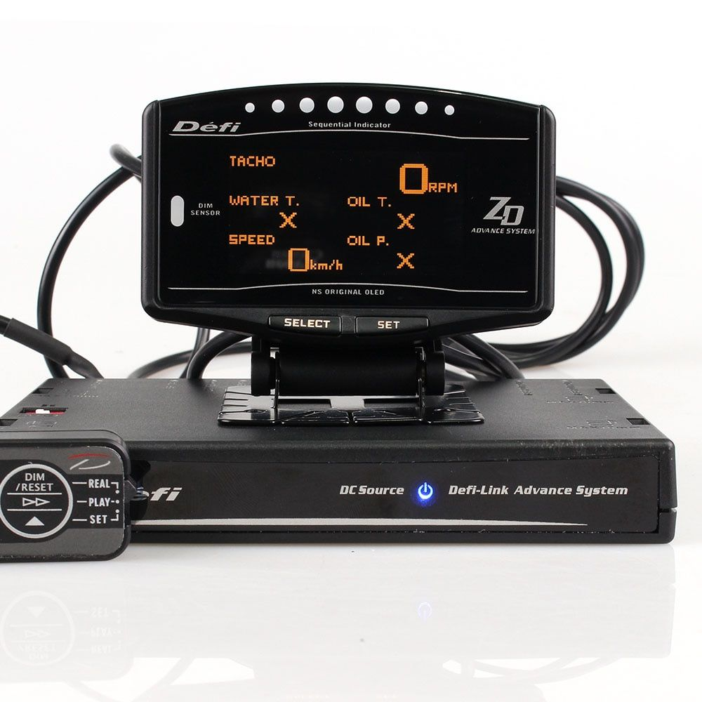Full Kit Sports Package 10 in 1 BF CR C2 EXT TEMP DEFI Advance ZD Link Meter Digital Auto Gauge