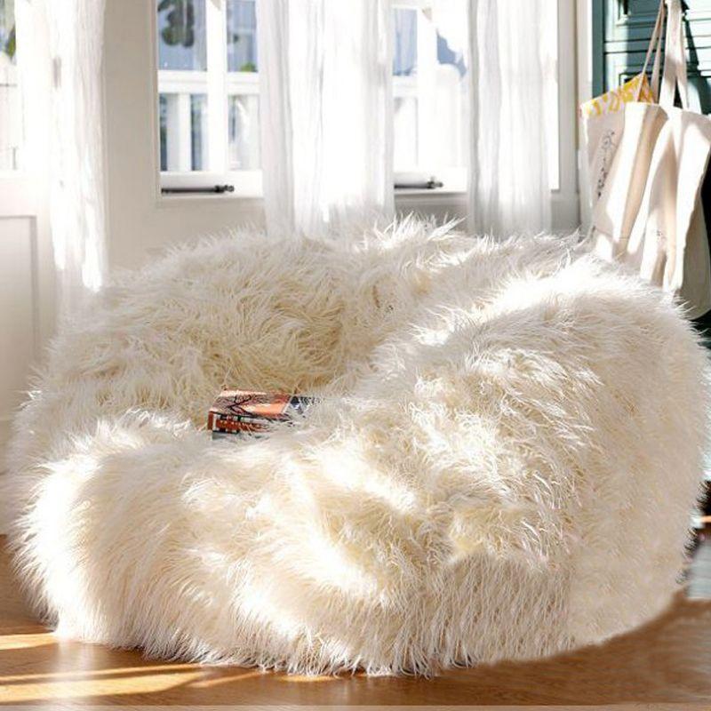 LEVMOON Transat Taille Sac De Haricots Couverture Canapé Chaises siège salon meubles Sans Remplissage Pouf Lits paresseux siège zac Poufs