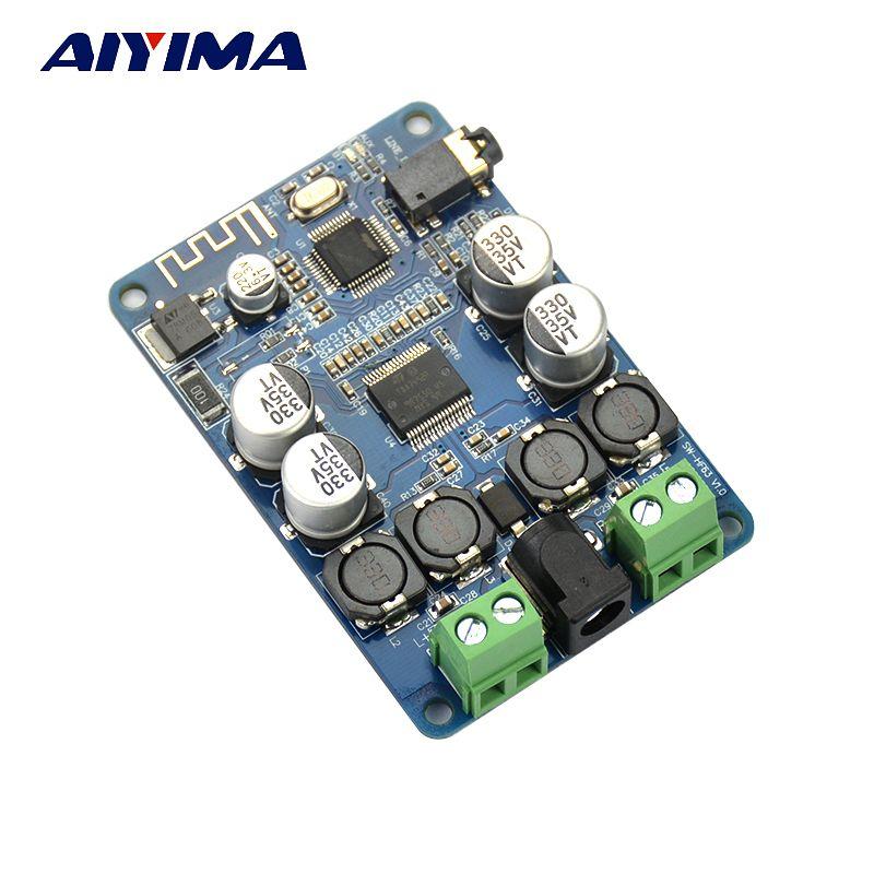Aiyima tda7492p приемник Bluetooth Усилители домашние аудио доска 25 Вт x 25 Вт Колонки Изменение Музыка Мини Усилители DIY двухканальный
