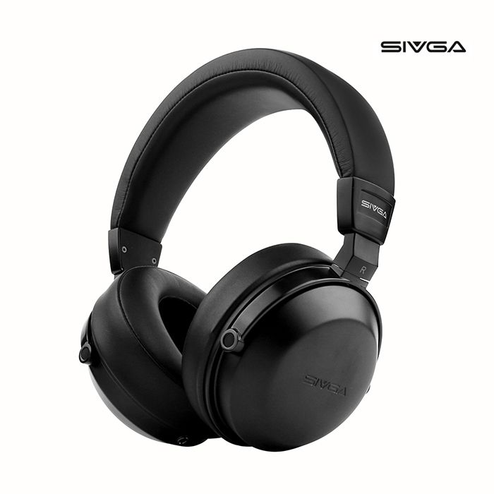SIVGA SV003 Wooden Closed Type HIFI Monitor Headphone 50mm Plated Beryllium Dynamic Headphones