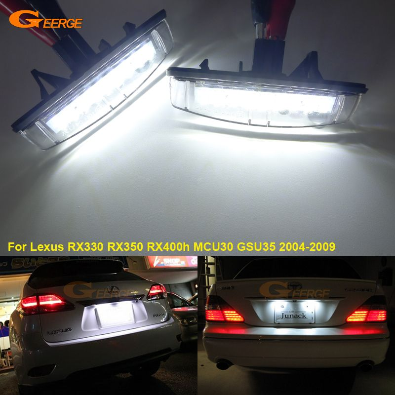 For Lexus RX330 RX350 RX400h MCU30 GSU35 2004-2009 Excellent Ultra bright 3528 Led License plate lamp light lamp No OBC error