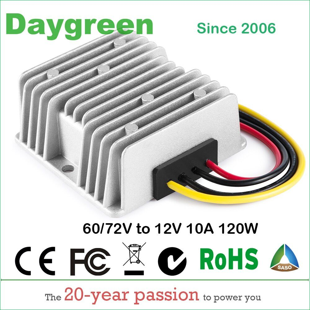 30-90V TO 12V 10A 120W DC DC Step Down Switching Converter 36V 48V 60V 72V to 13.8V 10A, 80V to 13.8VDC 10AMP CE