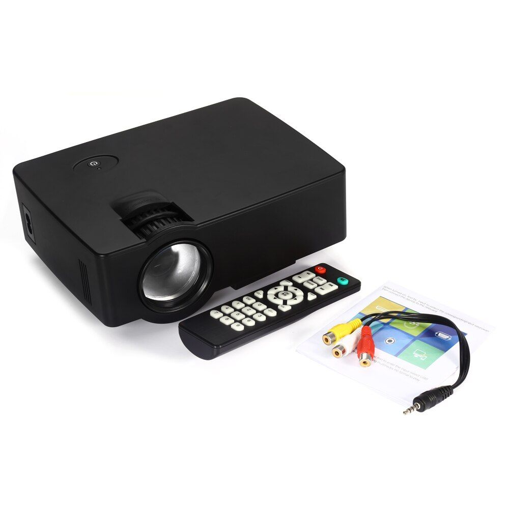 Coolux E08 LCD Projector 1500 Lumens 800 x 480 Pixels 1080P HD Media Player with Airplay Miracast
