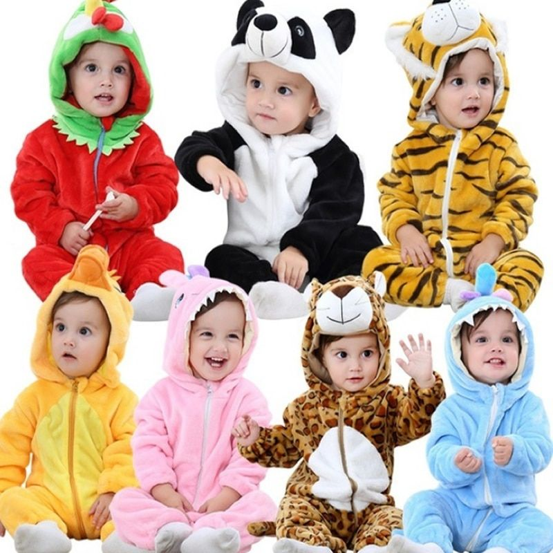 Bébé barboteuses Hello Kitty filles vêtements nouveau-né bébé dessin animé pyjamas chaud hiver animal pyjamas roupas de bebe recem nascido