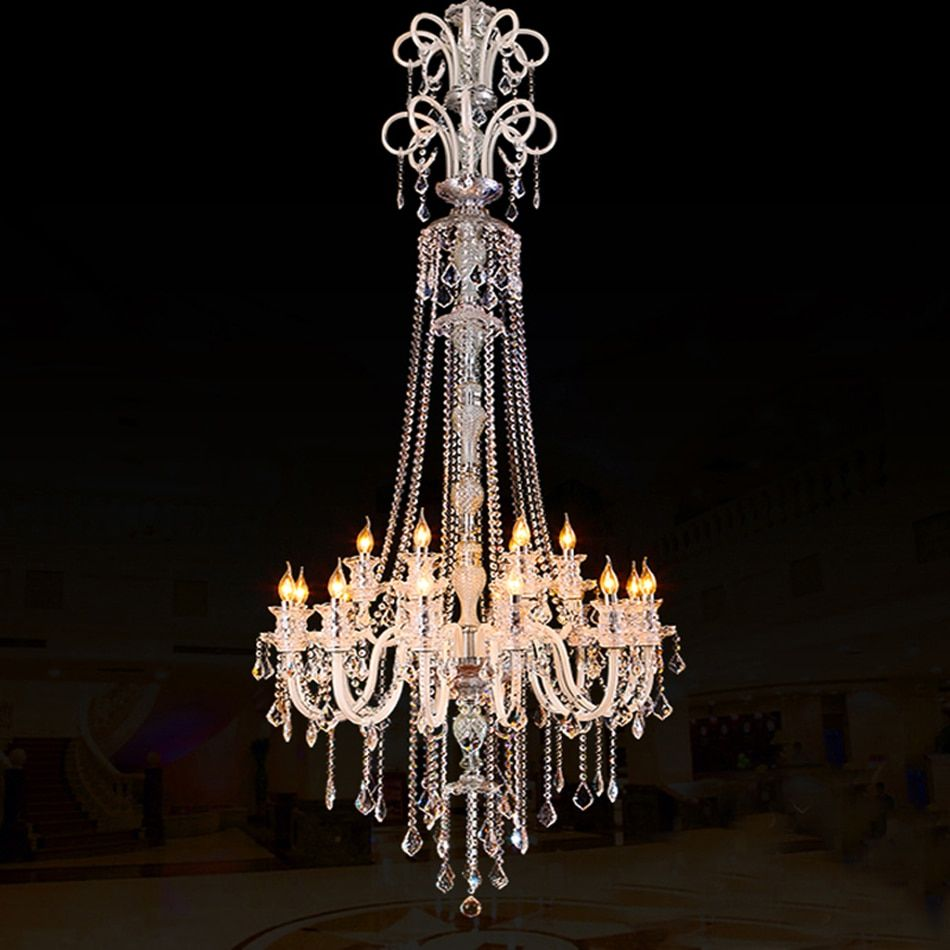 large modern crystal chandelier for high ceiling extra large chandelier living room led luxury chandeliers industrial villa hall