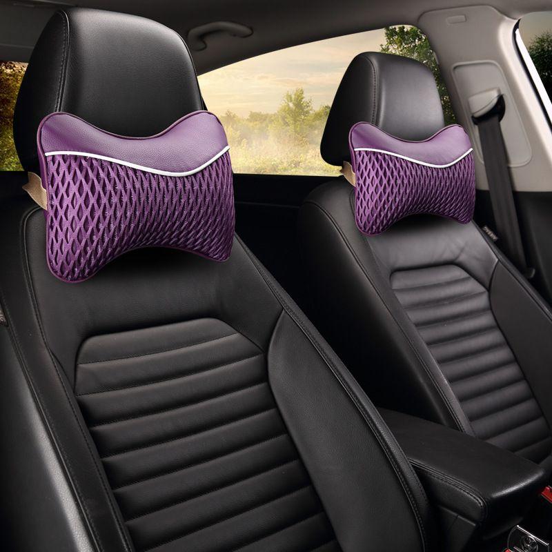 CHIZIYO 1Pc Car Ice Silk Breathable Neck Soft Memory Foam Auto Seat Cover Head Neck Rest Cushion Headrest Interior Accessories