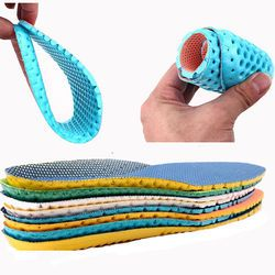 1Pair Stretch Breathable Deodorant Shoe Insoles Running Cushion Height Increasing Insoles Pad Sport Shoe Insert Arch Support
