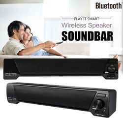 TV Speaker Home Theater Soundbar 3D Wireless Bluetooth Speaker FM Radio Portable Sound Bar Music Player Support TF Card U disk
