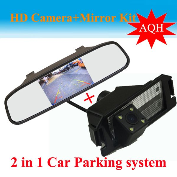 4.3inch HD Car Mirror +HD CCD Car Rear View Reverse Camera for I30 hyundai solaris (Verna) hatchback GENESIS COUPE KIA SOUL
