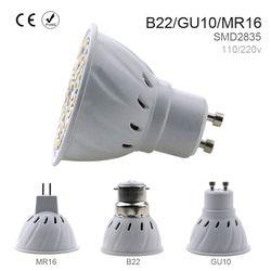 LED GU10 Spotlight Ampoule de Maïs lampe MR16 Spot light E27 48/60/80 leds SMD2835 B22 Bombillas led E14 focos 220 v Ampoule led maison