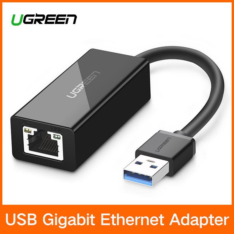 Ugreen USB Ethernet Adaptateur USB 3.0 2.0 Carte Réseau à RJ45 Lan pour Windows 10 Xiaomi Mi Boîte 3 Nintend Commutateur Ethernet USB