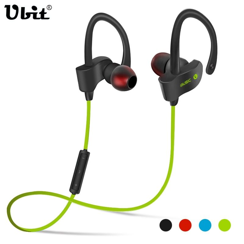Ubit 56S Sports In-Ear Wireless Bluetooth Earphone Stereo Earbuds Headset <font><b>Bass</b></font> Earphones with Mic for iPhone 6 Samsung Phone