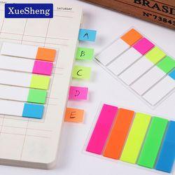 6 paquetes (600 páginas) lindo color Memo pad post it bookmark Point es Marker Memo banderas sticky notes Oficina