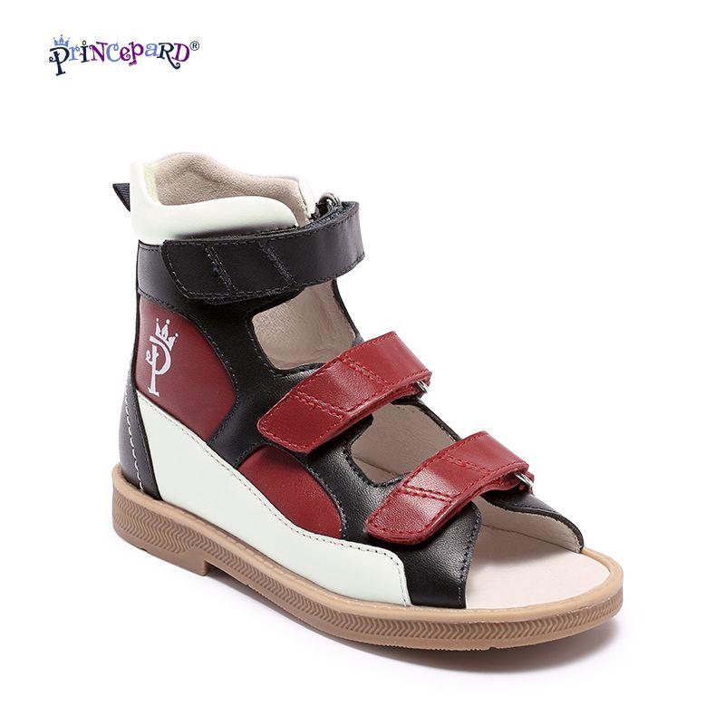 Original Princepard 2018 Neue orthopädische schuhe für kinder rot und schwarz Orthopädische schuhe für kinder mädchen sandalen