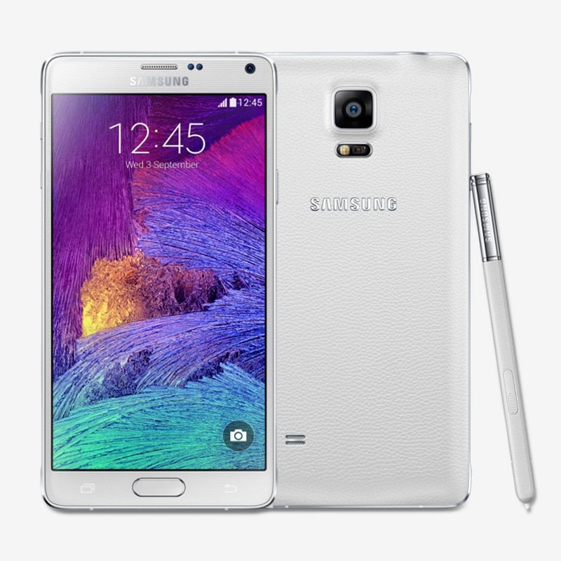 Unlocked Samsung Galaxy Note 4 N9100 Android 4.4 5.7 Inch 3GB RAM 16GB ROM 4G FDD-LTE 16.0MP factory unlocked Mobile Phone