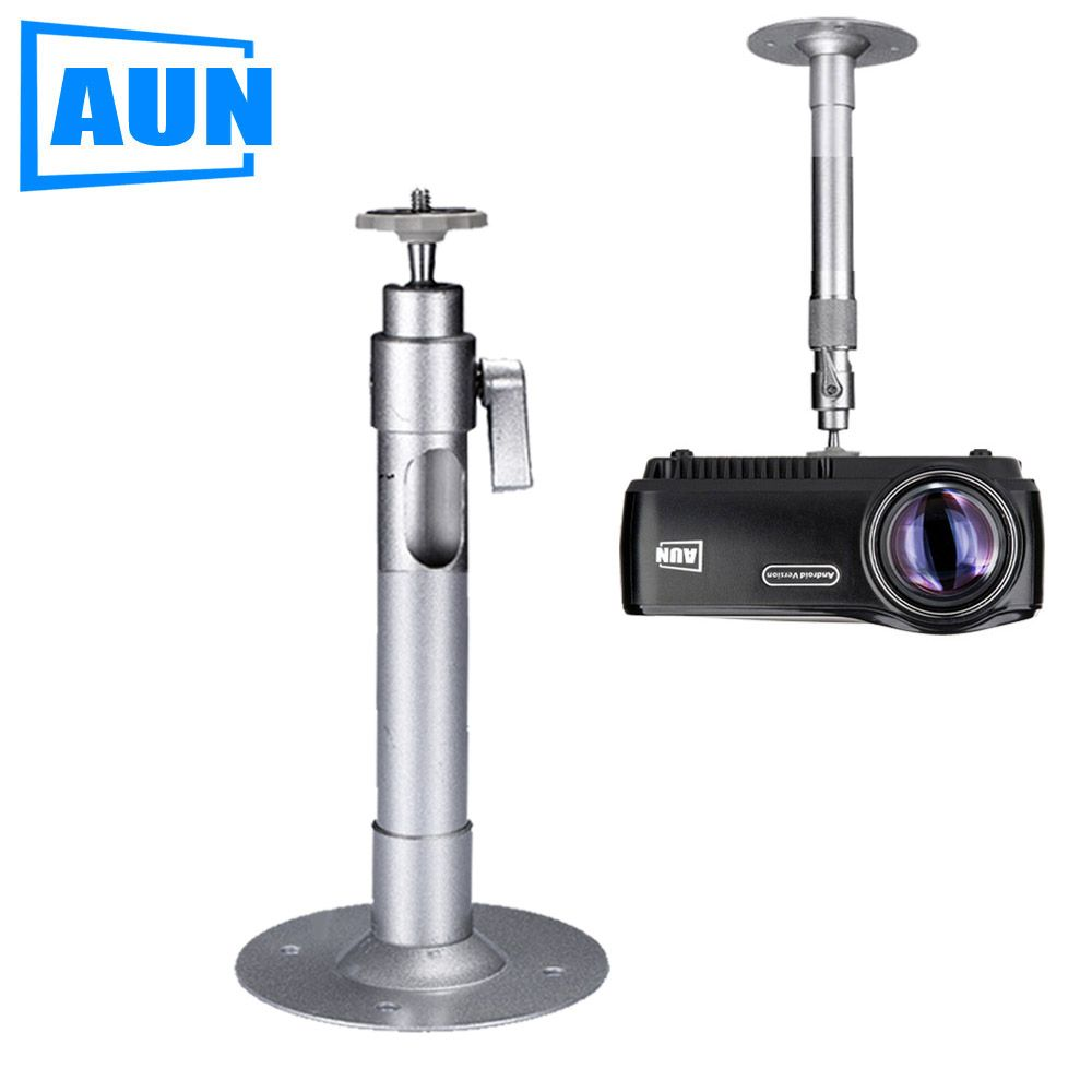 AUN Projector Holder Ceiling Mount Loading 3.5KG Roof Projector Bracket For Multimedia Beamer Projector LED Proyector ZZ01