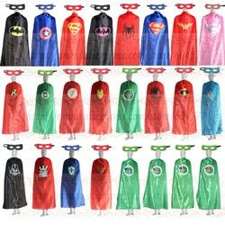 55 pouces/140 cm Super-Héros Adulte Cape et masques Halloween Costume Party Favors
