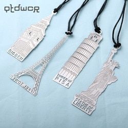 1PC Retro London Eiffel Tower Statue of Liberty Bookmark Stationery for Student Gift Office Supplies Book Mark