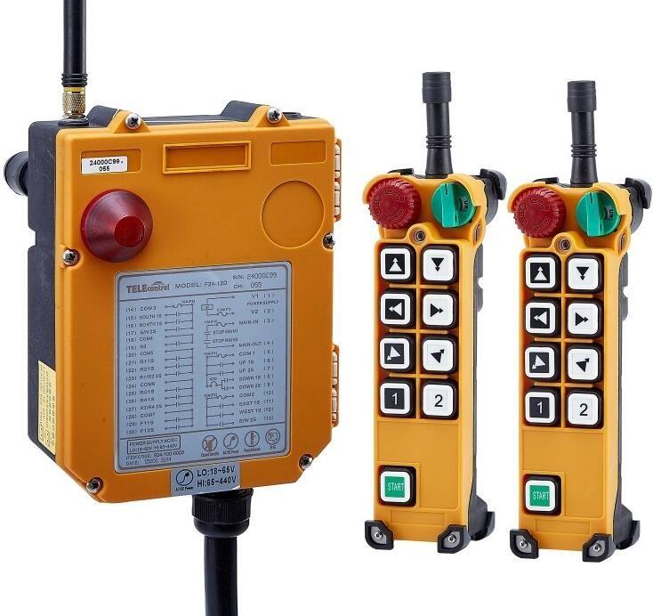 TELECRANE Wireless Industrial Remote Controller Electric Hoist Remote Control 2 Transmitter + 1 Receiver F24-8D