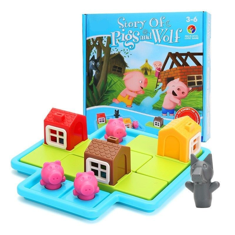 Smart Hide&Seek Board Games Three Little Piggies 48 Challenge with Solution Games IQ Training Toys For Children Oyuncak