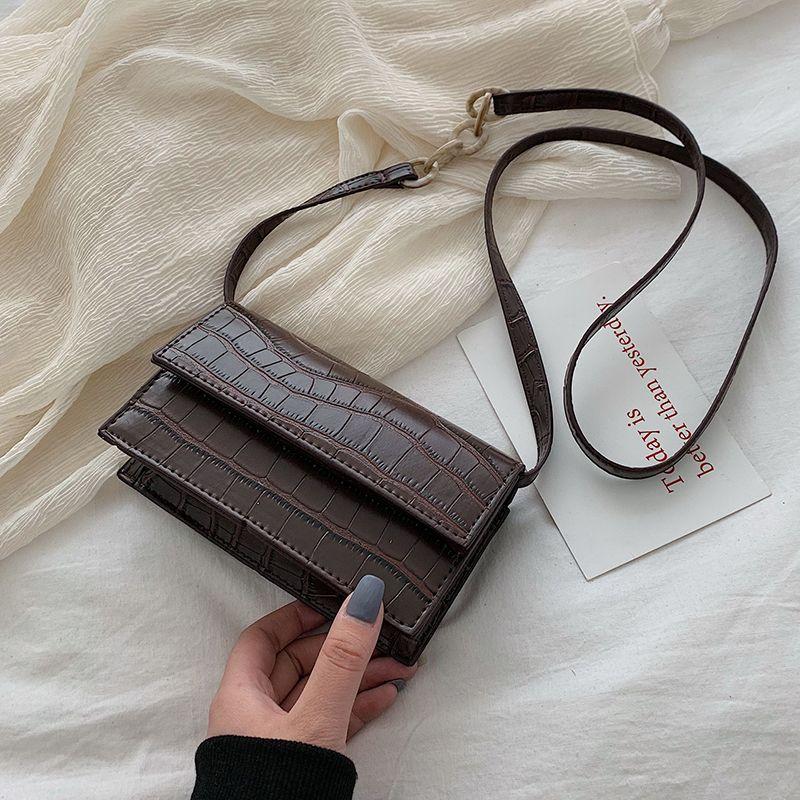 Mini sacs à bandoulière motif pierre pour femmes 2019 sacs à main en cuir synthétique polyuréthane et sacs à main nouveau Designer dames sac à bandoulière Messenger