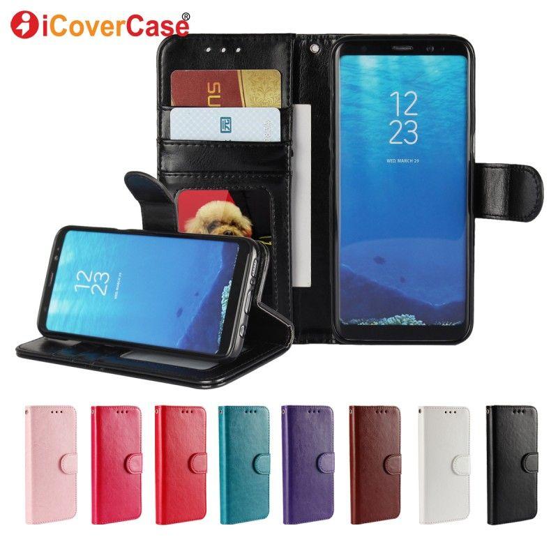 S8 Plus Cas Pour Samsung Galaxy S8 Étui En Cuir Flip Couverture antichoc Pour Samsung s8 s9 plus S5 Mini S6 s7 Bord housse Etui
