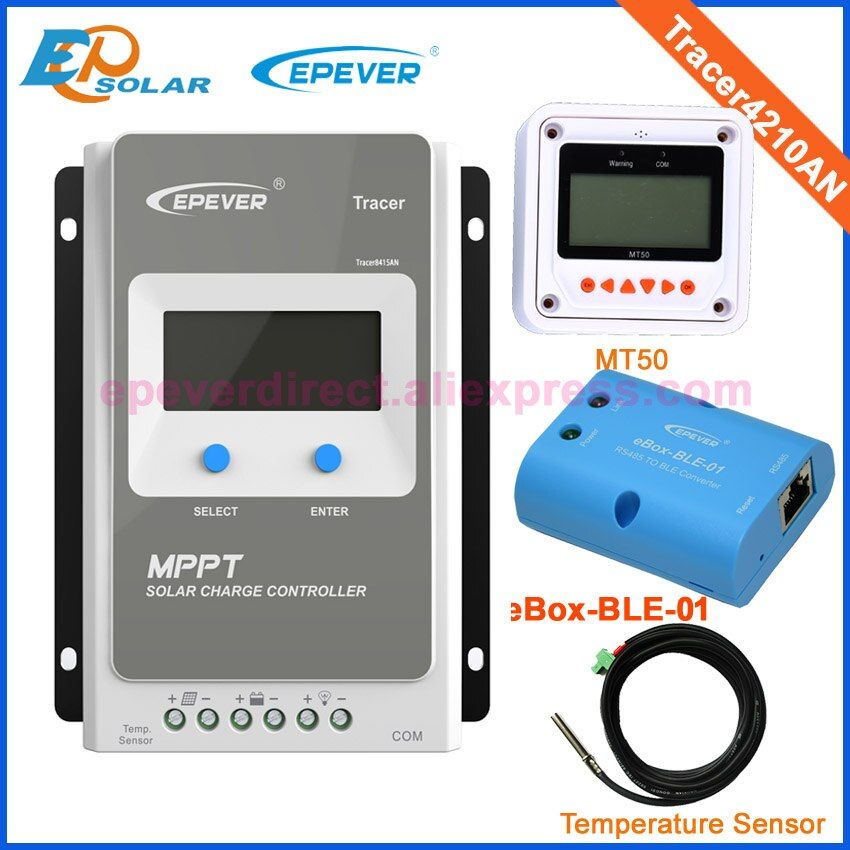 Controller solar panel system tracer4210AN 12v 24v auto type EPsolar bluetooth function temperature sensor MT50 remote meter