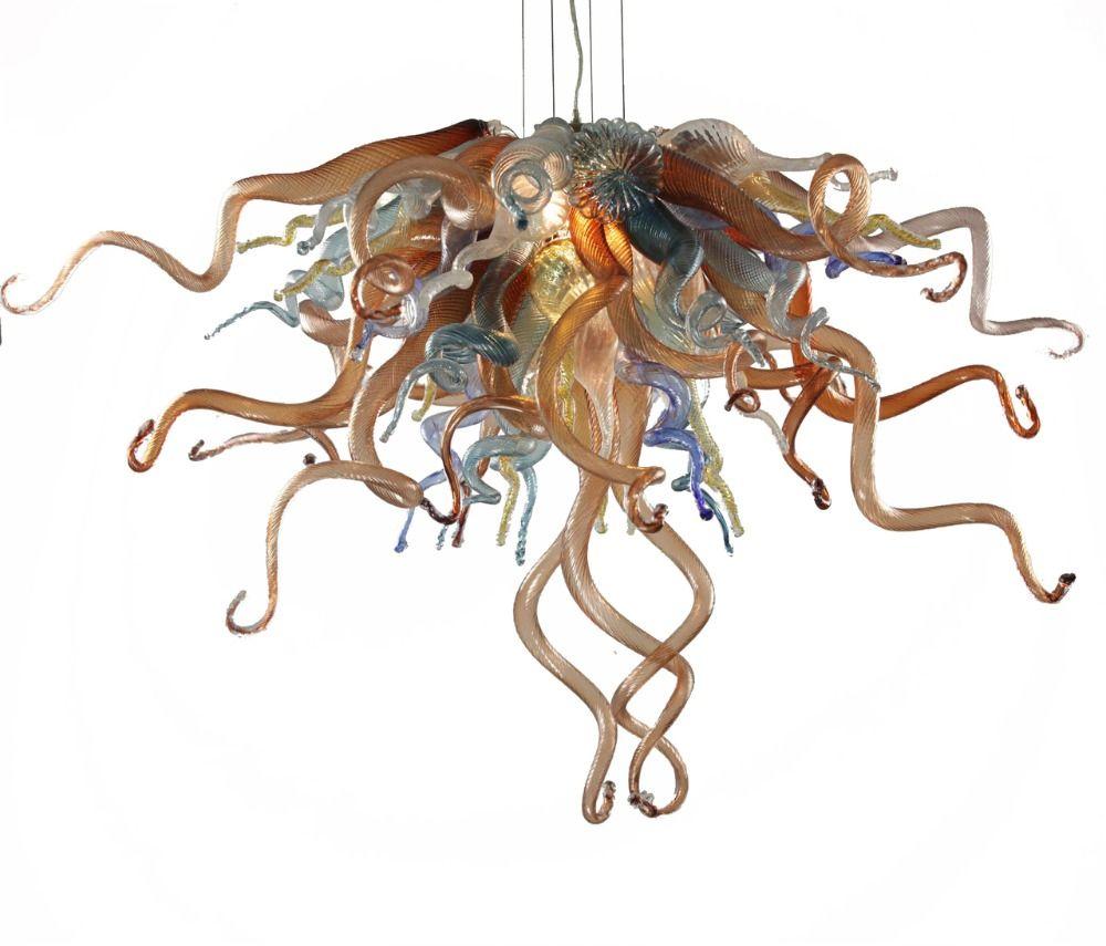 Handgemachte Geblasen Glas Kronleuchter CE UL Zertifikat LED Leuchten Stil Moderne Kunst Kronleuchter Günstige
