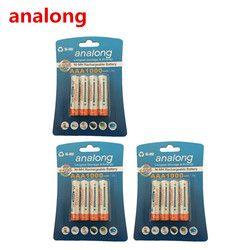 Analong 1,2 v AAA 3A NIMH 1000 мА-ч aaa батарея перезаряжаемая AAA батарея ni-mh аккумуляторная батарея