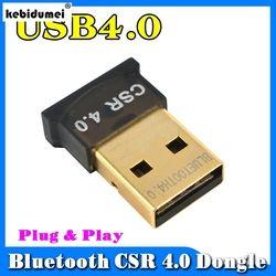 kebidumei New Mini USB Bluetooth Dongle Adapter V4.0 Dual Mode Wireless Dongle CSR 4.0 For Windows 10 Win 7 8 Vista XP Laptop