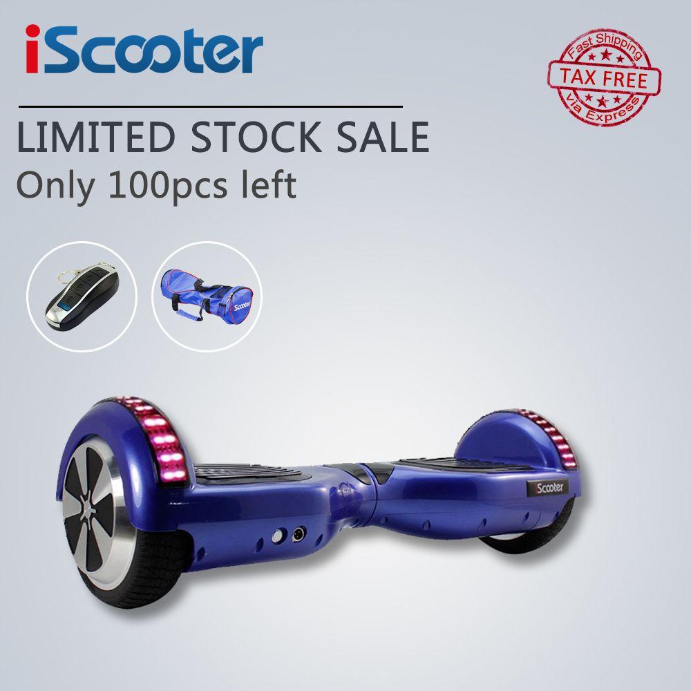 IScooter hoverboard UL2272 Bluetooth Elektrisches Skateboard lenkung-rad Smart 2 rad selbst Gleichgewicht Stehen roller schwebebrett