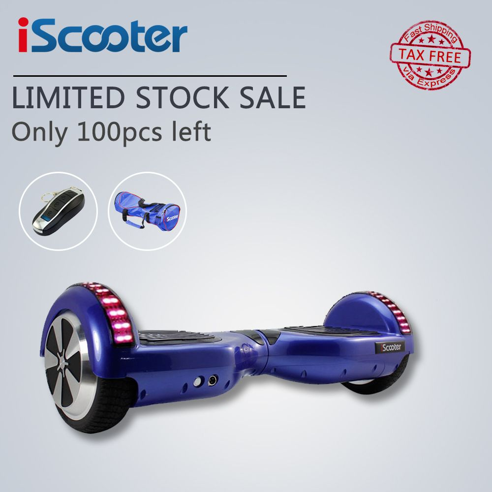 iScooter hoverboard UL2272 Bluetooth Electric Skateboard steering-wheel Smart 2 wheel self Balance Standing scooter hover board