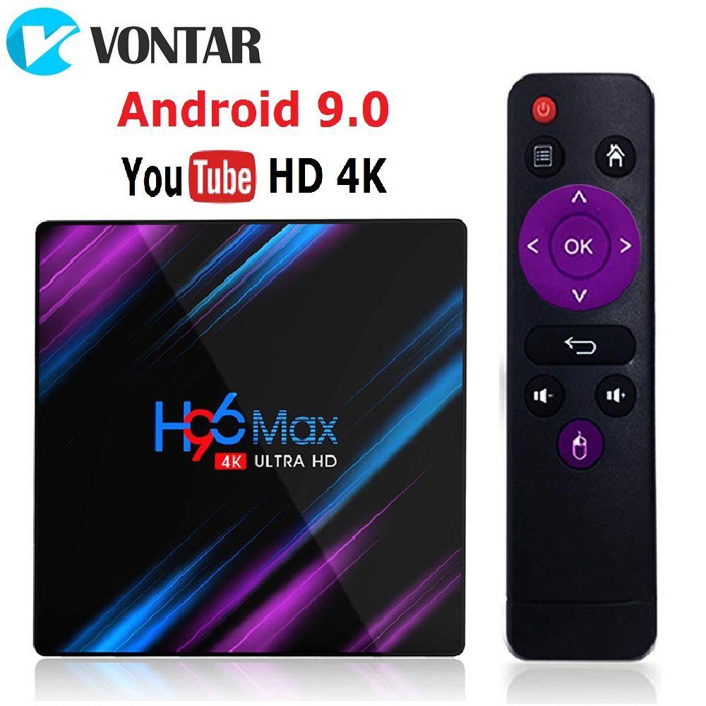 H96 MAX RK3318 Smart TV Box Android 9.0 4GB 32GB 64GB Media player 4K Google Voice Assistant Netflix Youtube H96MAX 2GB16GB